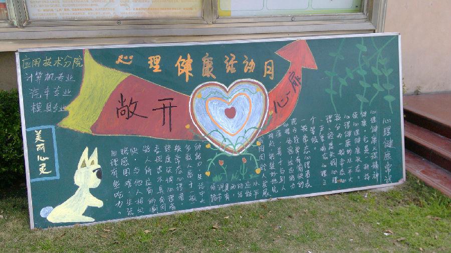 第六届心理健康活动月心理知识宣传海报 上海视觉艺术学院易班 学生