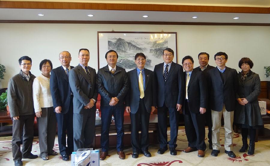 台湾体育大学校长代表团一行来我校访问交流