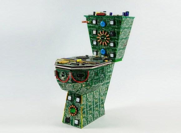 废旧电路板创作的系列艺术品