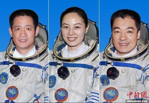 (素材编辑:上海行健职业学院易班服务社) 神舟十号飞行乘组由航天员