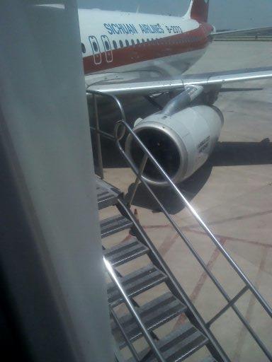 飞机场等待登机