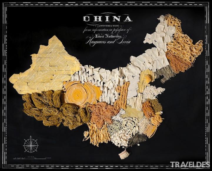 中国美食地图 手绘