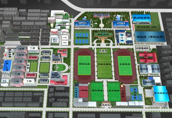 附学校平面图