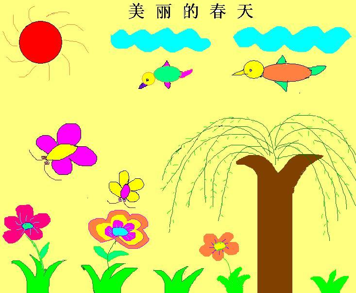 小学二年级春天图画图片展示_小学二年级春天图画