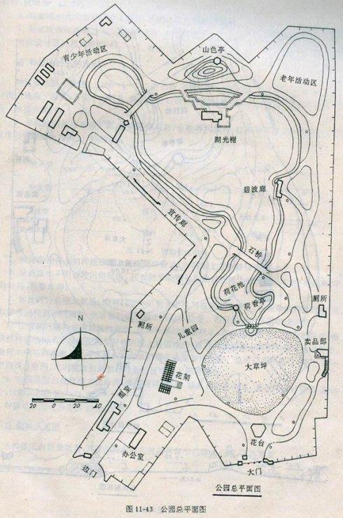 其园林图应包括:总平面图,竖向设计图,种植设计图,园林设施图等.
